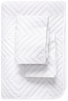 Melange Home Diamond Square Stitch Cotton Quilt Set