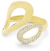 Ippolita 18K Gold Cherish Bypass Ring with Diamonds
