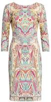 Etro Paisley Jersey Sheath Dress