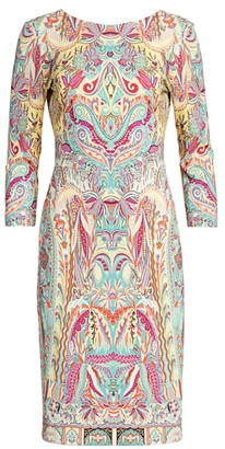 Etro Paisley Jersey Sheath Dress