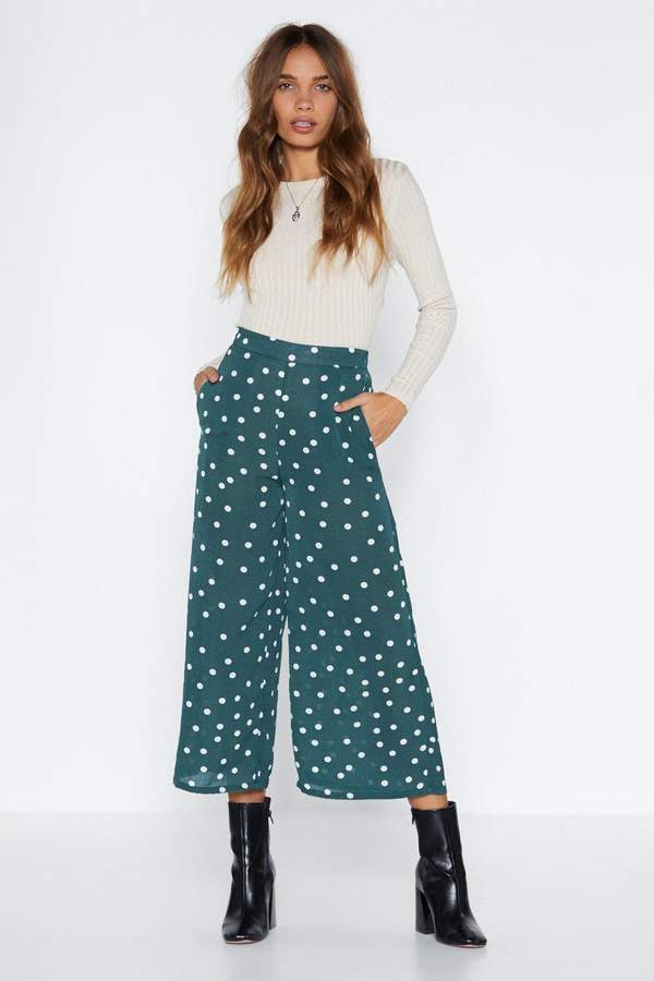 Nasty Gal Time for a Shape Up Polka Dot Pants