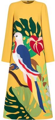 Dolce & Gabbana bird print A-line dress