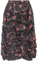 Comme des Garcons X Disney Bow-print Taffeta Skirt - Womens - Black Multi