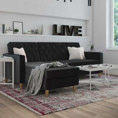 """Thumbnail for your product : CosmoLiving by Cosmopolitan Liberty 84"""" Wide Reversible Sleeper Sofa & Chaise"""