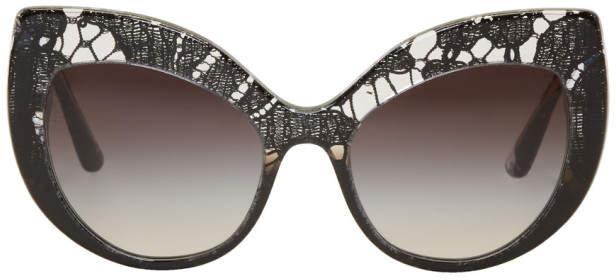 Dolce & Gabbana Black Lace Inlay Sunglasses