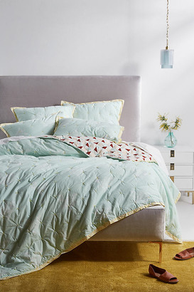 Anthropologie Rosalind Quilt By in Mint Size Q top/bed