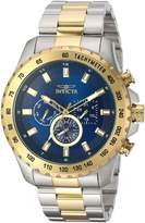 Invicta Men's 'Speedway' Quartz Stainless Steel Casual Watch, Color:Two Tone (Model: 24214)