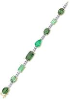 Irene Neuwirth Tourmaline and Emerald Tennis Bracelet