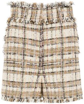 MSGM Frayed Edge Tweed Shorts