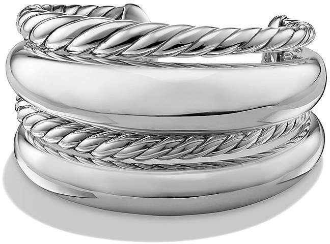 David Yurman Pure Form Four Row Cuff in Sterling Silver