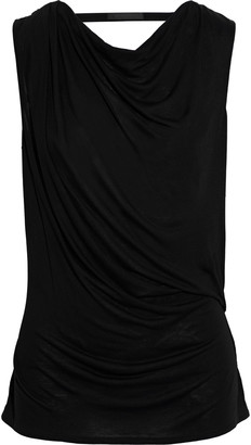 Helmut Lang Wrap-effect Draped Slub Jersey Top