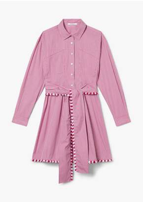 Derek Lam 10 Crosby Iona Belted Mini Stripe Shirtdress