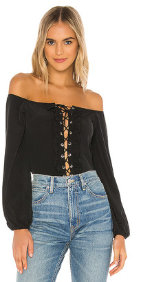 superdown Lulu Lace up Bodysuit