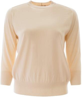 Loro Piana Crewneck Cropped Sleeve Sweater