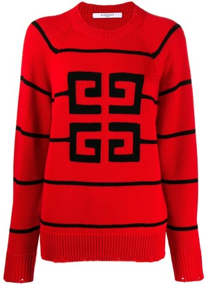 Givenchy Contrast Logo Sweater