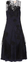 Roksanda Ithial Embroidered Silk-tulle Dress - Black