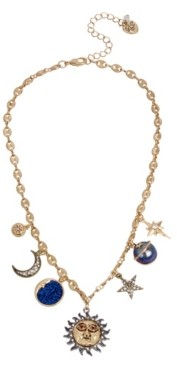 Betsey Johnson Celestial Mixed Charm Necklace