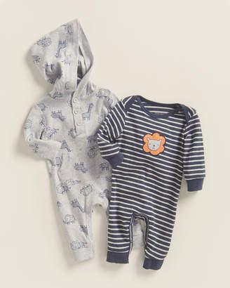 Little Me Newborn/Infant Boys) Two-Piece Lion Safari Romper Set