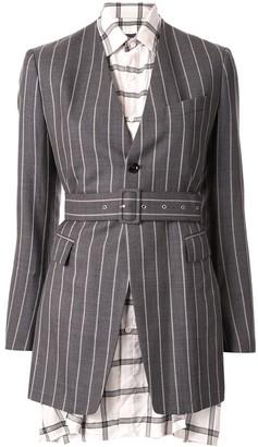 Maison Mihara Yasuhiro Layered Single Breasted Blazer