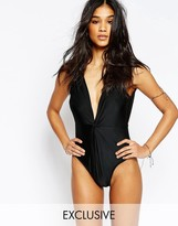 Wolfwhistle Wolf & Whistle Twist Macrame Trim Swimsuit B/C - E/F Cup