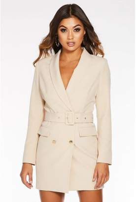 Quiz Stone Belted Blazer Dress