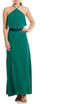 GB Halter Neck Cutout Popover Maxi Dress