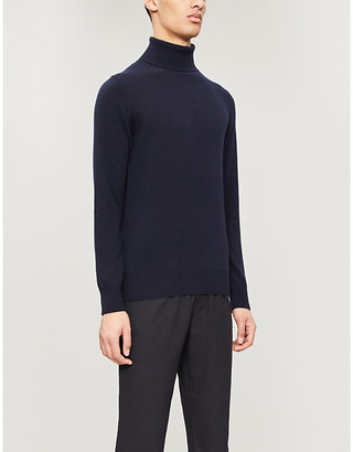 Emporio Armani Slim-fit cashmere turtleneck jumper