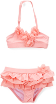 Beach Rays Peach Ruffle Accent Bikini - Infant