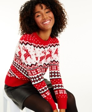 Charter Club Women's Reindeer Sweater, Created for Macy's