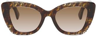 Fendi Tortoiseshell F Is Cat-Eye Sunglasses
