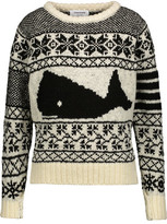 Thom Browne Intarsia Wool And Mohair-Blend Sweater