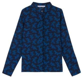 Maison Martin Morel - Black & Blue Coral Blouse - S - Blue/Black