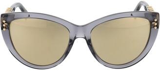 Moschino Cat Eye Logo Detail Sunglasses