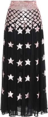 Temperley London Sequin-embellished Point D'esprit Maxi Skirt