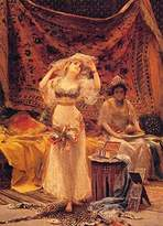 Barts B-Arts Fabbi Fabio In the Harem 100% Hand Painted Oil Paintings Reproductions 20X28 Inch