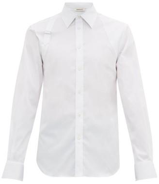 Alexander McQueen Harness Cotton-poplin Shirt - White