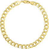 JCPenney FINE JEWELRY Infinite Gold 14K Yellow Gold Hollow Curb Chain Bracelet