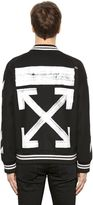 Off-White Brushed Arrows Wool Bomber Jacket