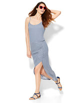 New York & Co. Lounge - Shirred Hi-Lo Maxi Dress - Stripe