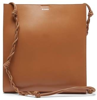 Jil Sander Tangle Medium Braided Strap Leather Tote Bag - Womens - Brown