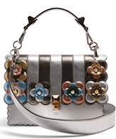 Fendi Kan I flower-appliqué leather shoulder bag