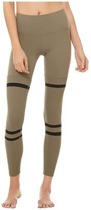 Alo High-Waist Legit Leggings (Olive Branch/Black) Women's Casual Pants
