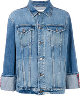 Frame boxy denim jacket - women - Cotton - XS