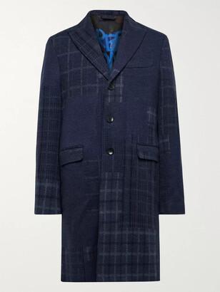 Etro Slim-Fit Patchwork Wool Overcoat