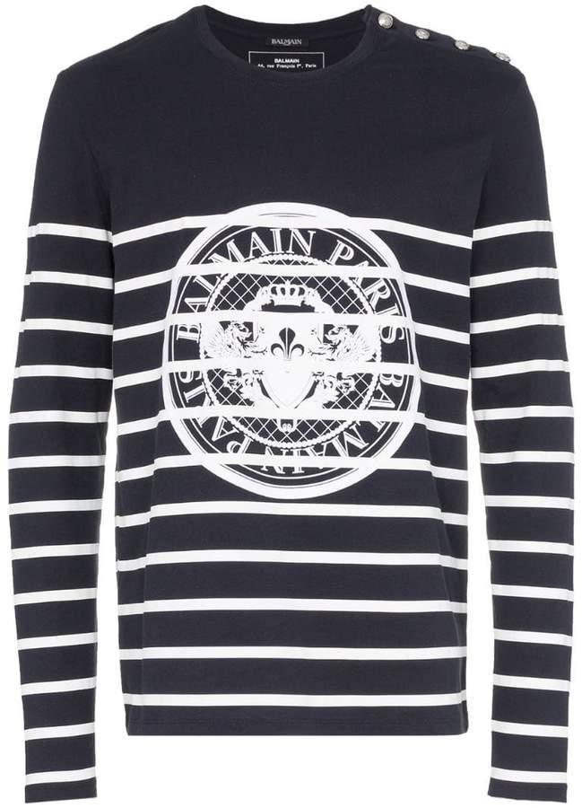1d6eadc91a2c Mens Long Sleeve Print T-shirt - ShopStyle UK