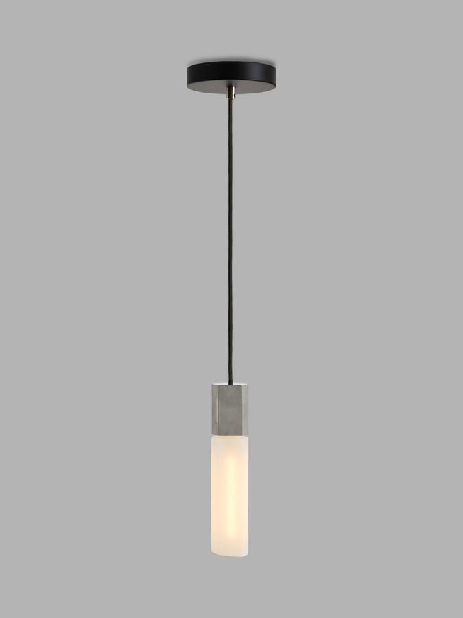 Tala Basalt LED Single Pendant Ceiling Light, Stainless Steel