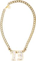 Lanvin Gold & Crystal Digit Necklace