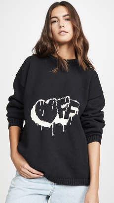 Off-White Bubble Arrow Knit Sweater