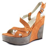 Emma Lou 0a976 Open Toe Suede Wedge Sandal.