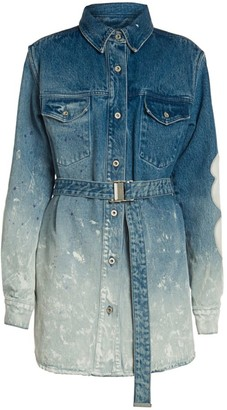 Off-White Ombre Denim Shirtdress